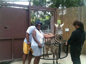 Precious & Leonard, Wounded Warrior Tennis Clinic, San Diego Zoo