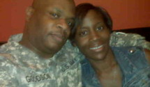 Precious with Wounded Warrior & Husband, Lenny